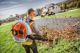 Stihl BR 700 Backpack Blower In Action