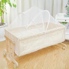 Baby Swing Bed Moses Basket with Mosquito Net