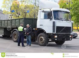100 Truck License Checking Documents Of The Driver Of A Traveling Without