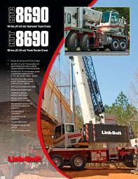 Link-Belt HTC-8690 90-ton (81.6 Mt) Hydraulic Truck Crane - Link ... 110ton Grove Tms9000e Hydraulic Truck Crane For Sale Material 5ton Isuzu Mounted Youtube Ph Lweight Cranes Truckmounted Crane Boom Hydraulic Loading Pk 100 On Rent 19 Ton American 1000 Lb Tow Pickup 2 Hitch Mount Swivel 1988 Linkbelt Htc835 For Cranenetworkcom Dfac Mobile Vehicle With 16 20 Lifting 08 Electric Knuckle Booms Used At Low Price Infra Bazaar Htc8640 Power Equipment Company