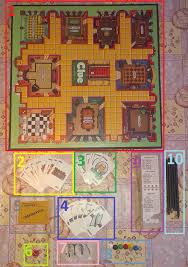 The Stuff Game Board With 9 Rooms