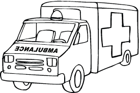 Fire Truck Coloring Pages Free Dump Monster Printables Ambulance Download Print Full Size