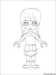 Stephanie Lego Friends Coloring Page