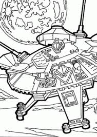 Lego UFO Coloring Page For Girls Printable Free Space