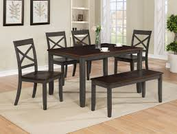 CROWN MARK Etta Dining Table, 4 Chairs, And Bench (2225-6P) Argos Home Lido Glass Ding Table 4 Chairs Black Winsome Wood Groveland Square With 5piece Ktaxon 5 Piece Set4 Chairsglass Breakfast Fniture Crown Mark Etta And Bench 22256p Hesperia Casual Drop Leaves Storage Drawer By Coaster At Value City Braden Set Includes Morris Furnishings Tall Ding Table Chairs Height Canterbury Ekedalen Dark Brown Orrsta Light Gray Cascade Round Kincaid Becker World Costway Metal Kitchen