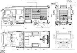 100 Fire Truck Drawing MercedesBenz Atego Heavy Blueprints Free Outlines