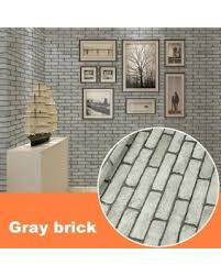 Modern Waterproof Self Adhesive Brick Stone Style 3D Wallpaper For Living Room Background Wall Sticker