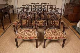 Set Of Ten 19th Century Mahogany Chippendale Style Dining Chairs Of ... Antique Set 10 Victorian Mahogany Balloon Back Ding Chairs 19th Of Six Century French Louis Xvi Cane Dutch Marquetry Inlaid Of 6 Legacy 12 Ft Flame Table 14 Chairs Room In Stock Photos Chairsgothic Chairsding Chairsfrench Fniture Single 2 Arm Late Hepplewhite Style Camelback 18th Walnut Chair With Queen Anne Legs English Cira 4 Turn The Century Ding In Wallasey Merseyside Gumtree 9776 Early Regency Vinterior