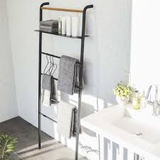 tower leaning ladder with shelf by yamazaki home zola