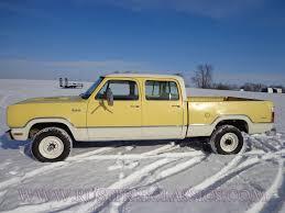 100 1975 Dodge Truck W200 Short Bed Crew Cab 360 4x4 75 Power Wagon Yellow White