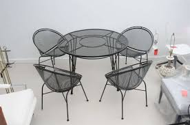 Vintage Wrought Iron Porch Furniture by Vintage Salterini Wrought Iron Patio Set At 1stdibs