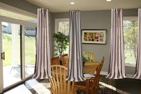 Living Room Curtain Ideas 2014 by Ravishing Ceiling To Floors Grey Fabric Curtain Patio Door Window