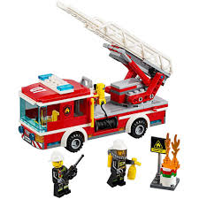 Amazon.com: LEGO City Fire Ladder Truck 60107: Toys & Games