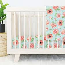 Coral And Mint Baby Bedding by Mint Crib Bedding Caden Lane
