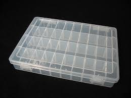 épaississement plastique 40 compartiments boîte de rangement