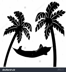 Palm Tree Hammock Drawing