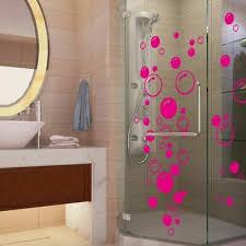 wasserfest abnehmbare blasen wandaufkleber badezimmer dusche glas aufkleber ebay