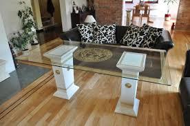 medusa couchtisch glas wohnzimmertisch säulen säule neu antik stil sofa tische