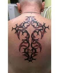Tribal Cross Tattoos On Back