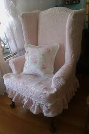 Wingback Chair Slipcover Linen by Furniture Entranching Slipcovers For Wingback Chairs Design