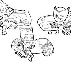 Coloring Pages Of Pj Masks Book Printable Color Barn
