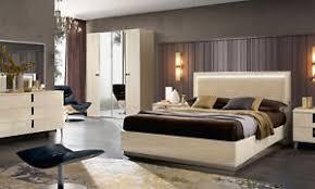 details zu schlafzimmer komplett set 6tl birkenholz beige hochglanz modern italienisch