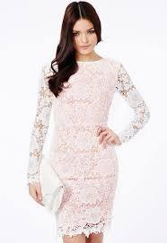 short white long sleeve lace dress