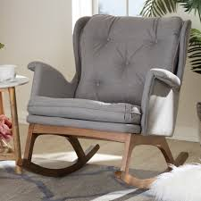 Hanson Rocking Chair Spark Fniture Kloris Tobacco Rocking Chair Cambridge Casual Alston Porch Cathleen Outdoor Luca Linen Me And My Trend Knoll Intertional Barcelona Relax Antique White Painted Wooden Rocking Chair In Corner Of Corda Patio Chairs Vola Glider Fjord Rar Eames Design Brown