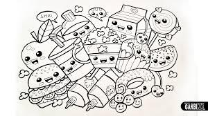 Drawing Cute Food Easy And Kawaii Graffiti By Garbi Kw Printable