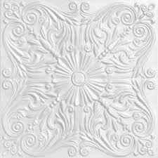 Foam Glue Up Ceiling Tiles by Tintile Tin Look Collection Tin Metal Paintable 12