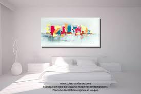toile chambre des pour coucher salle tableau moderne ameublement lit haus