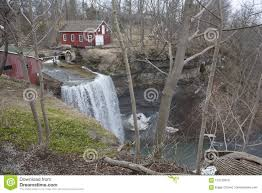 100 Water Fall House At The Top Of A Stock Photo Image Of