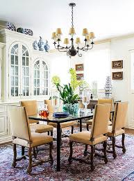 The Louis XIV Chairs Thronelike Stature Lends Drama To Dining Room Try Pairing With