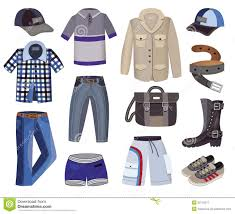 collection of men u0027s clothing stock vector image 53110577
