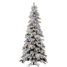 Vickerman Flocked Kodiak 5 Foot X 31 Inch Christmas Tree With 285 Multi Color LED
