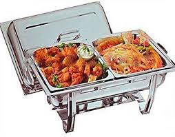 Vinod VINOD CHAFING DISH SET FOOD WARMER BUFFET 2 PANS FUEL GEL TWIN NEW