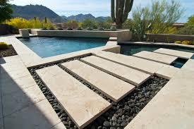 scottsdale estate pool patio tile modern patio
