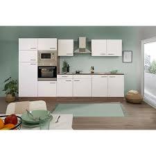respekta küchenzeile kb330eywmigke 330 cm weiß eiche york nachbildung