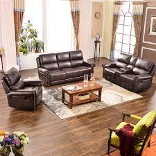 Harper Bright Designs Sectional Recliner Sofa Set Brown Chair Loveseat 3Seat Recliner