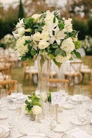 White And Black Elegant Wedding Beach CenterpiecesWedding Flower ArrangementsTall