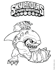 Skylanders Giants Coloring Pages To Print Colouring Page Line Drawings Free Printable Full Size