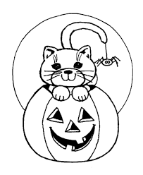 Scary Halloween Cat And Spider Coloring Pages