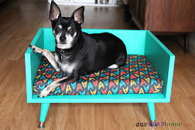 diy mid century style pet bed with a touch of star trek our
