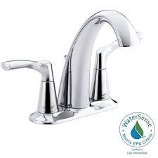 Kohler Bathroom Sink Faucets Centerset by Kohler Mistos 4 In Centerset 2 Handle Water Saving Bathroom