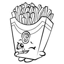 French Fry Shopkin Pages