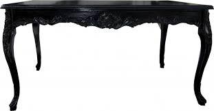 casa padrino barock esstisch schwarz mit glasplatte esszimmer tisch alle grössen