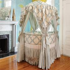 Round Bassinet Bedding by Round Cribs And Luxury Baby Nursery Gliders Armoires Bassinets