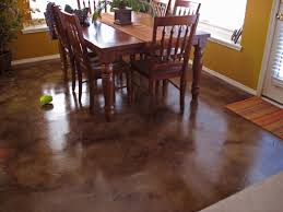 Laying Tile Over Linoleum Concrete by Look What An Acid Concrete Stain Did To This Room Solcrete Com