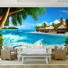 fototapete karibik insel vliestapete grün blau wohnzimmer schlafzimmer modern