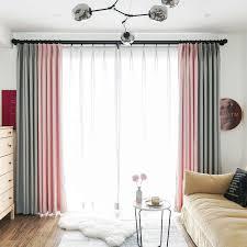2019 nordic moderne morandi farbe vorhänge hohe shading grau